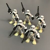 Lot 5x Playskool Star Wars Galactic Heroes Jedi Force StormTrooper Action Figure