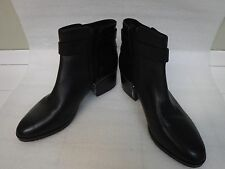 Latest VIA SPIGA black  quality leather ankle heel boots sz 10M , retail $199 !!