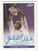 2006 WNBA Autograph #10 Yolanda Griffith Champion Sacramento Monarchs HOF