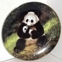 LAST OF THEIR KIND ENDANGERED SPECIES: THE PANDA & BABY BRADEX WILL NELSON PLATE