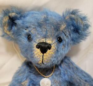 """Ginger Heimbuch """"Bandicot"""" artist teddy bear blue mohair 12"""" Bears of Tannenbaum"""