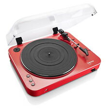 Lenco L-85 Record Player Red Belt Drive Turntable With USB Recording 33 & 45 RPM