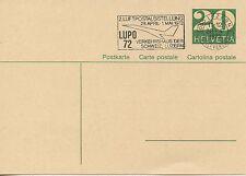 FIRST FLIGHT / CONCORDE / FULL POST / ENTIER POSTAL / SCHWEIZ LUZERN 1972