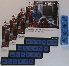 4 X SCARLET SPIDER: THE SPECTACULAR 102/142 The Amazing Spider-Man Dice Masters