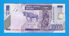 CONGO DEMOCRATIC REPUBLIC-10000 FRANCS-2006-PICK 103a-S/N 0166528 , UNC .