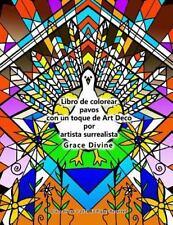 Libro de Colorear Pavos con un Toque de Art Deco Por Artista Surrealista...