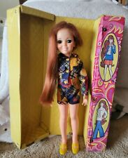 VINTAGE IDEAL CRISSY DOLL WITH HER ORGINAL OUTFIT & VINYL CARRY CASE ❤ VGC.
