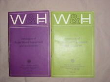 More details for w&h models catalogues 1968/1972