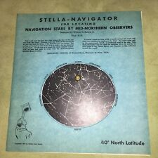 VTG 50s Astronomy William H Barton Jr Stella Navigator Wheel Solar System Chart