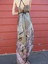 COCKTAIL DRESS Hankerchief Paisley Halter SEXY HOT Dress Empire Waist Open Back