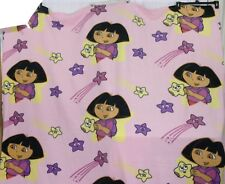 "Large Dora Nick Jr. TWIN Fleece Blanket Throw 68""x90"""