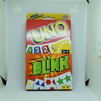 Mattel UNO & BLINK 2 Card Games In One! New