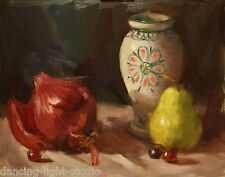 Original Oil Painting Fruit Pears Art Realism 11x14 Still Life Sallows