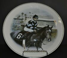 "1996 Santa Anita Collector's Plates ""Bill Shoemaker"" by Patty Kessel"