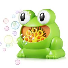 Frog-shape Full Automatic Bubble Machine Children Toy for Boys and Girls