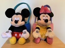 MICKEY And MINNIE MOUSE Plush Baskets Easter Halloween