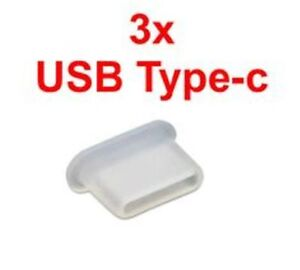 3x USB TYPE C FEMALE CONNECTOR CABLE CAP TOP DUST COVER PROTECTOR SAMSUNG