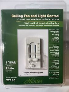 Hunter Ceiling Fan and Light Control Switch Model 27183
