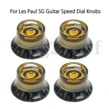 4pcs Electric Guitar Metal Dome Knob Speed Volume Tone Control Knob Black&Gold