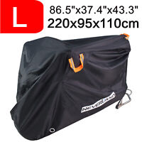 Large Heavy Duty Waterproof Outdoor All Weather Motorcycle Bike Scooter Cover