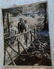 Original International News Service Photograph of Herbert Hoover at Summer Camp