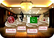 Cricket Pakistan Mix 12 Edible STANDUP Cake Toppers Decoration Birthday Sports
