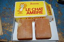 """boite de 2 savon ancien """"LE CHAT AMBRE"""""""
