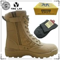 Forced Entry Leather Tactical Deployment Boot Military SWAT Boots Duty Work NWT