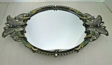 Mirrored Butterfly & Rhinestone Vanity Tray or Wall Hanging