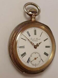 schwere Herren Taschenuhr aus NÜRNBERG Top Qualität Werk 1900