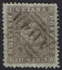BRITISH GUIANA 1862 SHIP 12C PERF12.5-13 USED