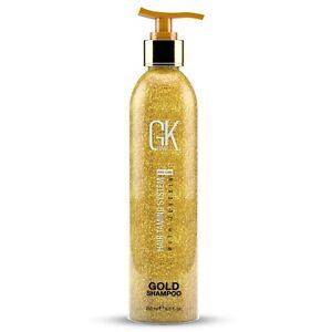 GK HAIR Gold Shampoo Ultra Shine Hair Smoothing and Repair Unisex 250ml
