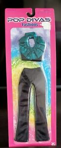 2002 Play Along Pop Divas Fashion Black & Turquoise New in Package 33800