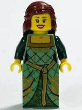 NEW Lego Castle Minifig Queen Girl Lady Kingdoms - Green Princess