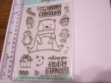 NEAT & TANGLED BEARY MERRY CHRISTMAS  Clear Stamps Gingerbread Candy Cane Tags