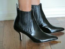 """New/Unused DVF BLK Patent Leather """"Mollo"""" Pointed Toe Bootie 100% Lthr - 7B"""