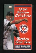 Boston Red Sox--Nomar Garciaparra--1998 Pocket Schedule--Stop & Shop