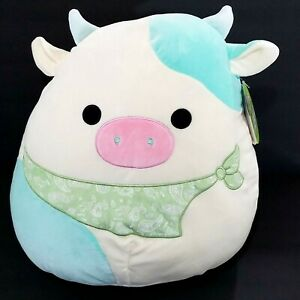 """16"""" Squishmallow Blue Easter Cow (Kelly, 2021) NEW Belana NWT MINT Authentic"""