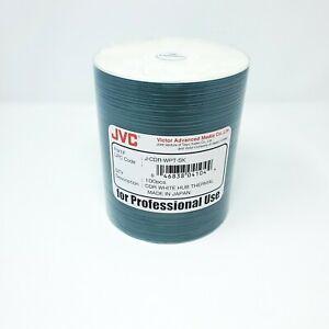 JVC Taiyo Yuden 100pcs CD-R White Hub Thermal J-CDR-WPT-SK - Made in Japan