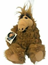 """1986 Coleco ALF 17"""" Plush Stuffed Animal Alien Production with Hang Tag NOS"""