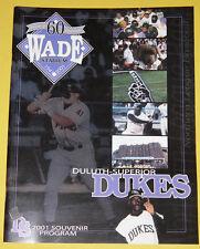 Duluth-Superior Dukes Official 2001 Game Program w/Scorecard Nice See!