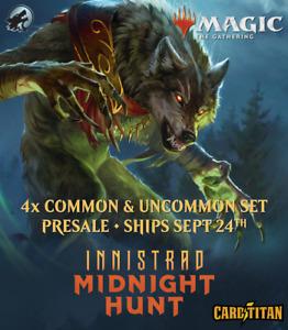 Magic MTG - Innistrad: Midnight Hunt - 4x Complete Common and Uncommon Set x4
