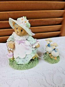 2003 114076 Cherished Teddies Bear ROSALIND Springtime w/ Geese