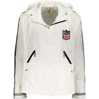 Genuine JOHN GALLIANO Men's White Pullover Nylon Jacket, size Large