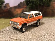 1981 Chevy Blazer K5 4x4 Lifted Custom 1/64 Diecast Truck Farm Off Road Mud 4Wd