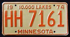 "MINNESOTA "" 10.000 LAKES HH 7161 "" 1974 MN Vintage Classic  License Plate"