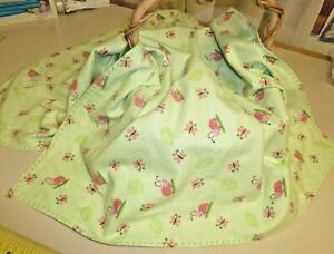"""Ladybug and Dragonfly Flannel Blanket Approx. 31"""" X 31"""""""