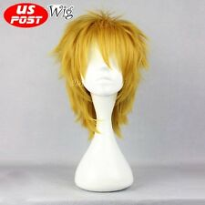 Anime for League of Legends LOL Ezreal Short Yellow Blonde Party Cosplay Wig+Cap