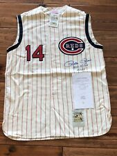 PETE ROSE SIGNED #14 CINCINNATI REDS Hit King WOF Certified Private Signing