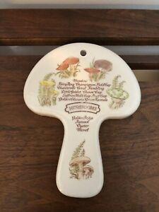 Avon Weiss Brazil 1980 Mushrooms Spoon rest Wall Hanging Retro Merry Mushroom 🍄